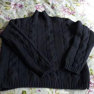 McLaughlin Cashmere cable mock turtleneck sweater